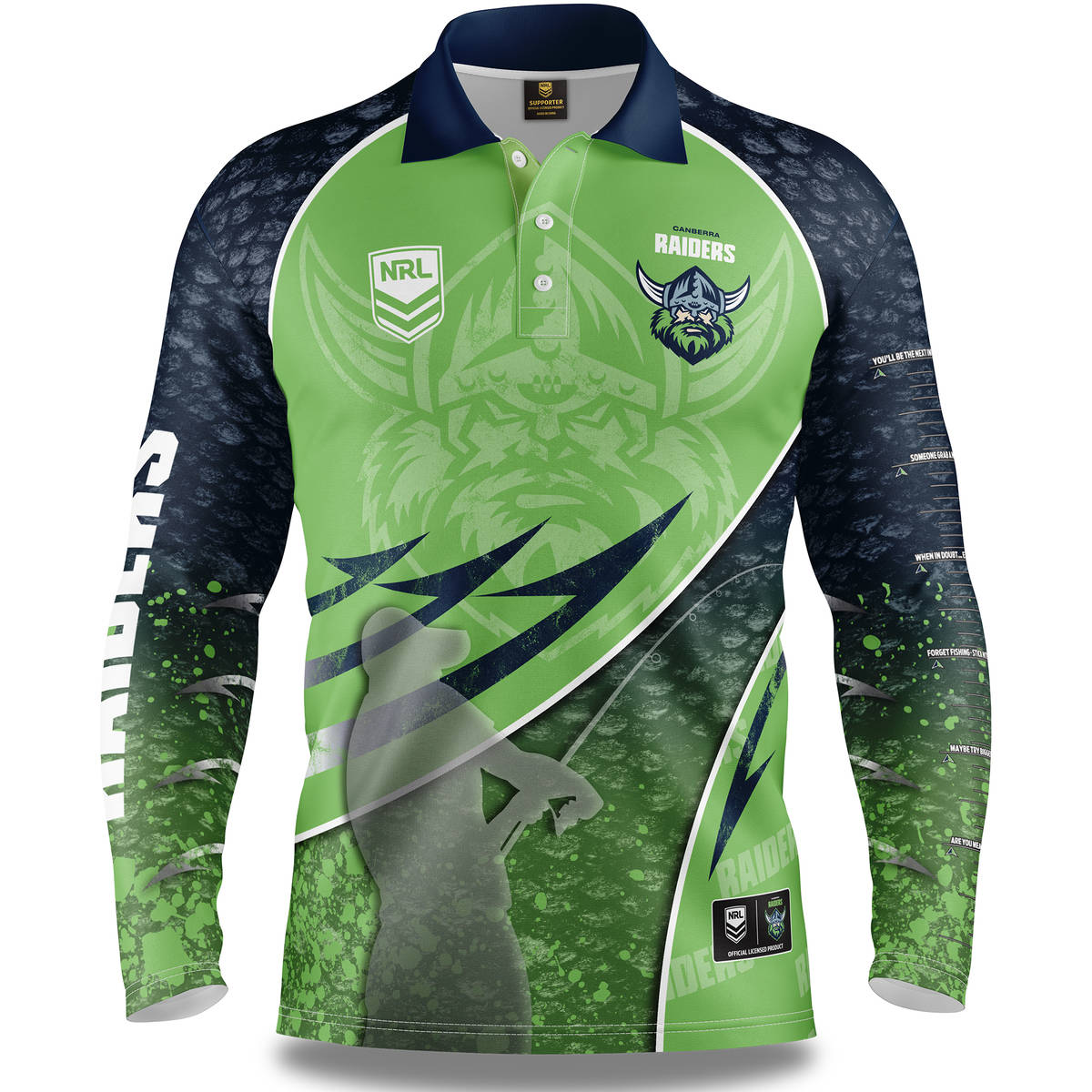 NRL Raiders Fishing Shirt0