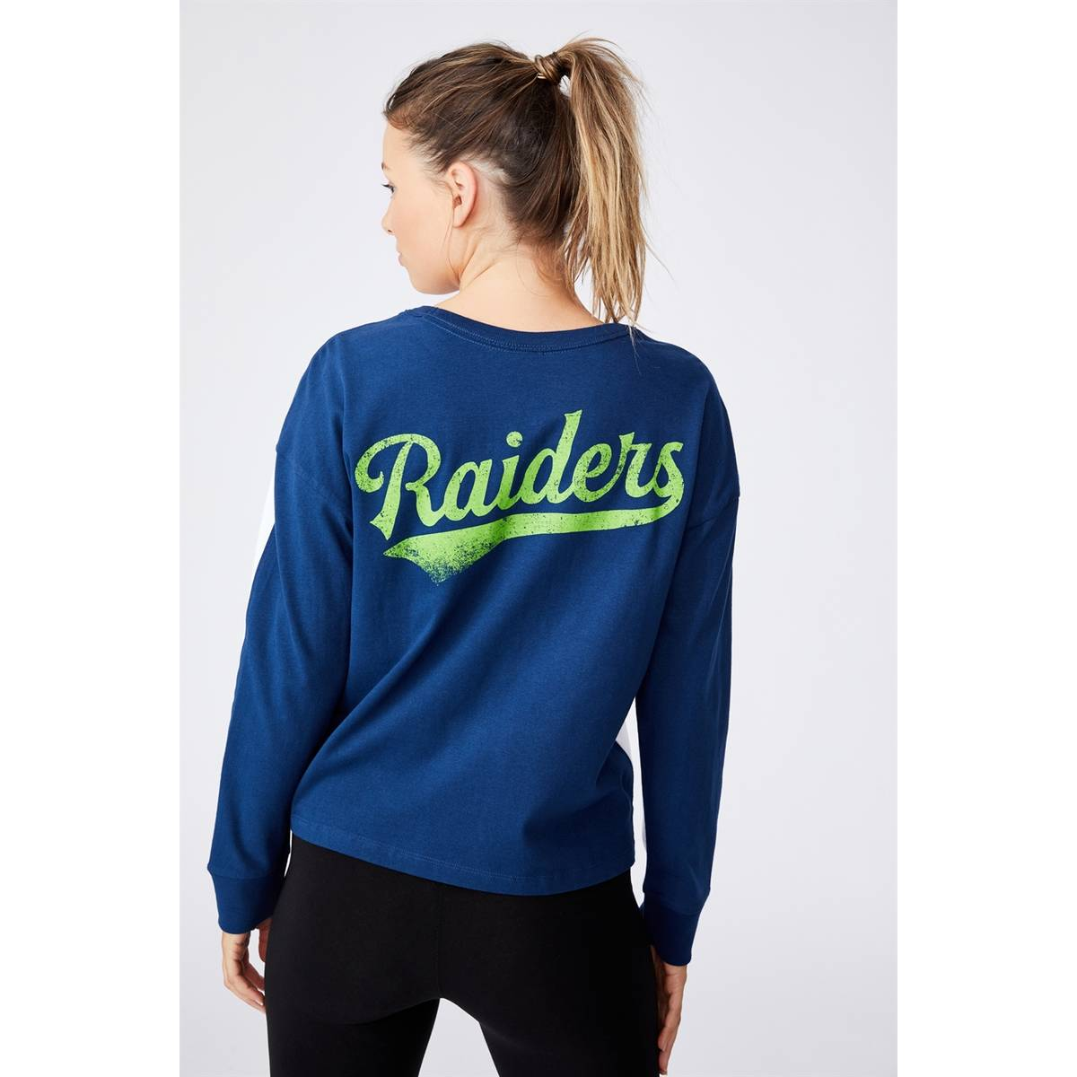 NRL WOMENS CHOPPED LONG SLEEVE TOP1