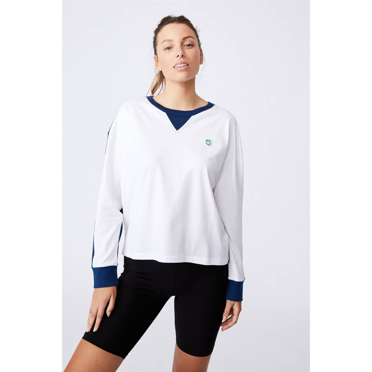 NRL WOMENS CHOPPED LONG SLEEVE TOP0