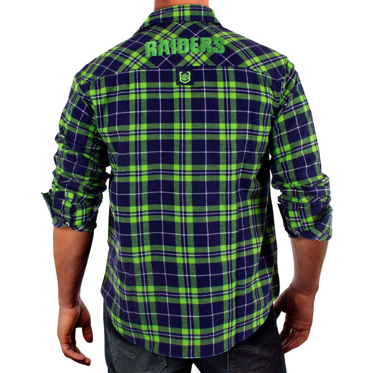 NRL Raiders Flannel Shirt1