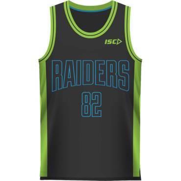 2016 Kids Black Basketball Singlet