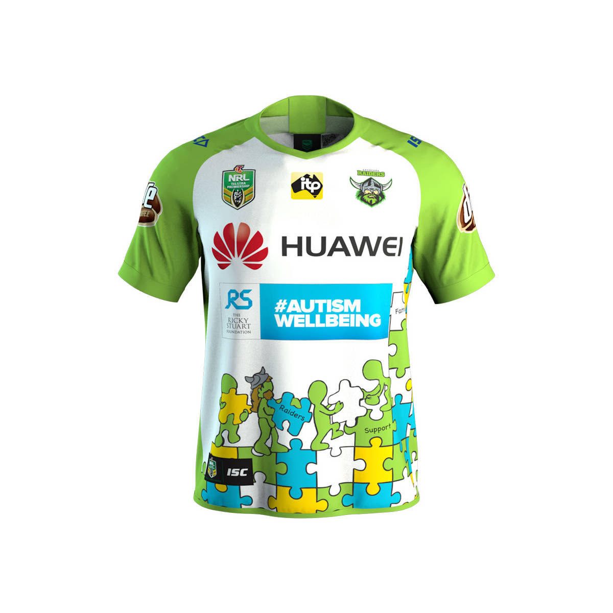 7229a8cf2 Canberra Raiders Shop – 2018 Kids Huawei Charity Jersey